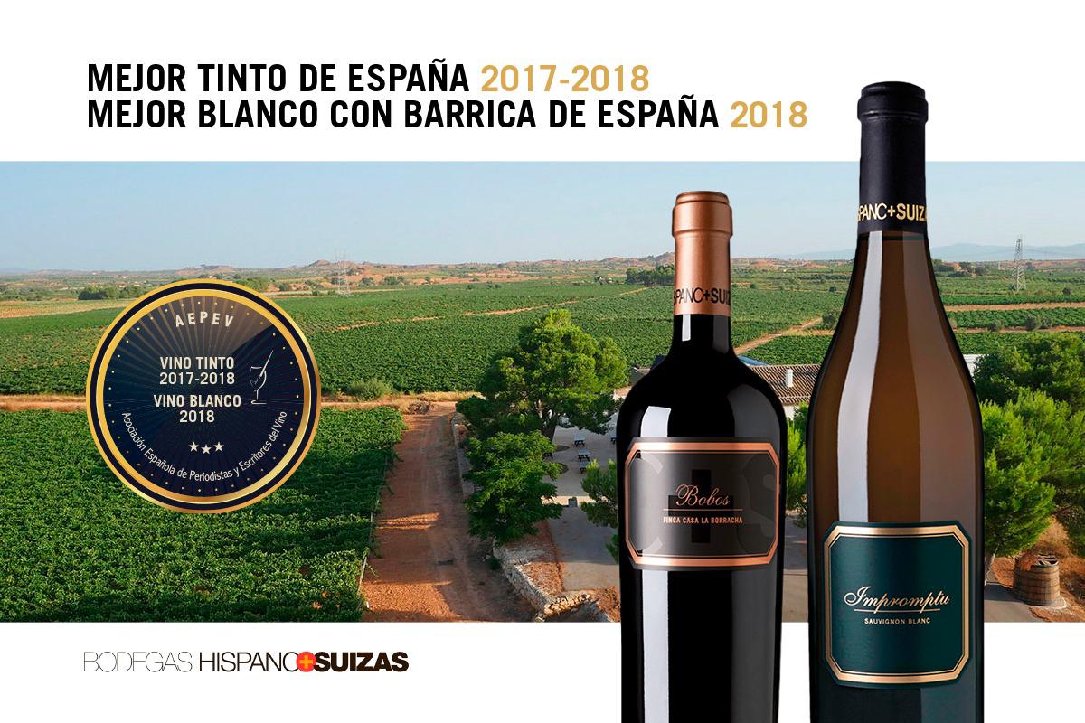 Dos vinos de H+S, los mejores de España en su categoría para la asociación de críticos