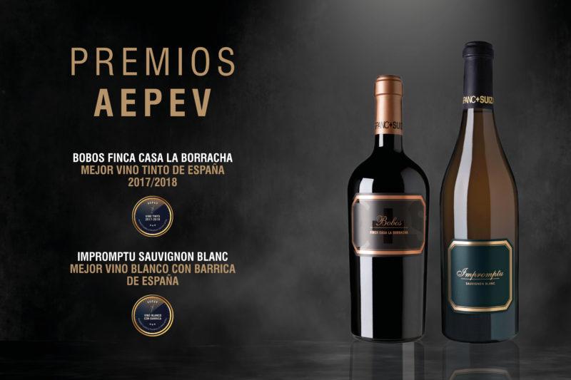 Dos vinos de H+S galardonados como los mejores de España en su categoría por la AEPEV
